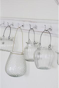hanging glass jars