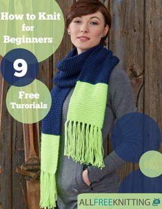 """Knitting for Beginners: 9 Free Tutorials"" eBook 