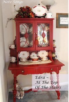 red furniture...