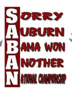 Alabama Football the best!