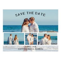 #savethedate #postcards - #Photo Collage Save the Date Postcard