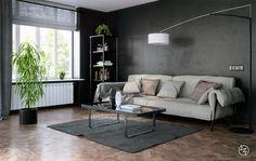 Chic Black Living Room Design
