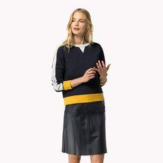 Tommy Hilfiger Sweat-shirt Color-block Texturé - navy blazer / snow white / sundown yello (Bleu) - Tommy Hilfiger Sweatshirts - image principale
