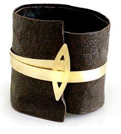 Leather Cuff VIRGILIO BAHDE contemporary jewellery design #jewelry