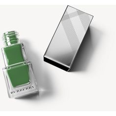 Burberry Nail Polish - Sage Green No.420 (200 SEK) ❤ liked on Polyvore featuring beauty products, nail care, nail polish, burberry, formaldehyde free nail polish, shiny nail polish and burberry nail polish
