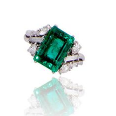 An emerald and diamond ring  l Bonhams Auction # 21011 - 17th of October 2013 in New York 11:00 EDT.