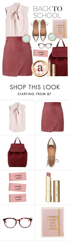 """Ready , Set, Go !!"" by stephanie-mac ❤ liked on Polyvore featuring MaxMara, Michelle Mason, Mansur Gavriel, Sigerson Morrison, Stila, Prada, Natural Life and Louise et Cie"