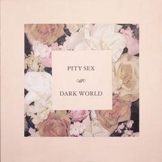 "Pity Sex - Dark World 12""EP on GORGEOUS pink/white translucent marble"