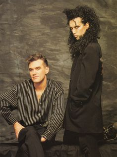 Pete Burns and Morrissey