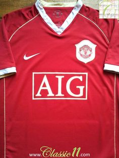 bd86686d2 Relive Manchester United s 2006 2007 season with this vintage Nike home  football shirt. Classic