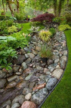 Gorgeous Small Backyard Garden Landscaping Ideas - Page 46 of 46 Small Backyard Landscaping, Landscaping With Rocks, Landscaping Tips, Backyard Ideas, Hillside Landscaping, Sloped Backyard, Landscape Design, Garden Design, Desert Landscape