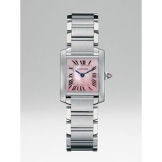 Cartier Tank Francaise Stainless Steel & Mother-of-Pearl Watch/Small