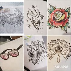 Due to a client needing to rearrange Chris (@_cags_) has space from half 2 today. He's got these and lots of other pre drawn designs available or he can create you a unique bespoke design based off your ideas. You can contact us on 07596 237 438 or worcestertattoostudio@hotmail.co.uk http://ift.tt/2n1oYza #worcester #kiderminster#malvern #tattoostudiosinworcester #starrtattoosupplies #barberdts #fusionink