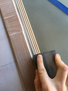 Sliding Farmhouse Hollow Core Closet Doors With Frosted Glass : 17 Steps (with Pictures) - Instructables Closet Door Handles, Brass Door Handles, Closet Doors, Veneer Door, Wood Veneer, Home Improvement Tv Show, Home Improvement Projects, Home Depot Colors, Finished Plywood