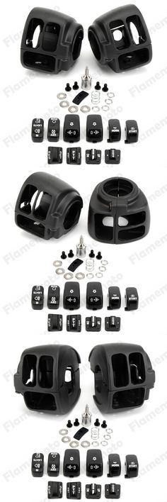 [Visit to Buy] Black Motorbike Accessories Parts  Switch Housing Case Cover +10 Cap For Harley Sportster 883 1200 XL 14-16 #Advertisement