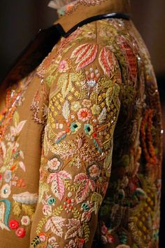 Refashion a jacket or coat with elaborate embroidery