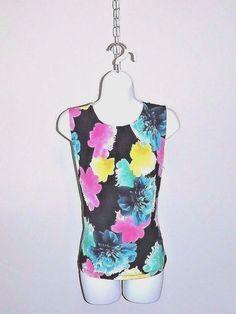 NWOT Calvin Klein Top Sz S 4/6 Gathered Neckline Summer Floral Matt Jersey #CalvinKlein #Blouse #Career