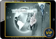 The VIP TEAM is the First and Only Online University that Pays the Students to Study. We Offer a wide range of Classes (like: The Science of Getting Rich and The Master Key System and more). There is no need for Sponsoring. A Student can Passively participate and still gets paid via our Unique Credit Sharing System. Member who do introduce other Members are rewarded via our Powerful Affiliate System..