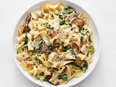 Turkey Tetrazzini with Spinach and Mushrooms recipe from Food Network Kitchen via Food Network