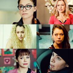 Tatiana as Cosima, Krystal, Helena, Sarah, Alison and Tony