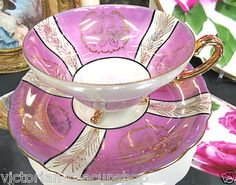 Simple Pink Japan three footed cup and saucer. ($34.95)