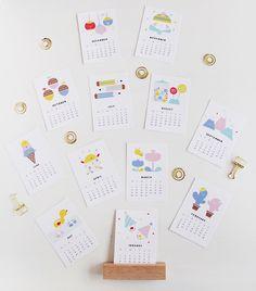 Design is Yay Calendar 2016 - Printable Mini Size | DESIGN IS YAY!