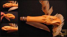 Gerdil Лоран - Скульптура - Животные Opinel № 8 самшит ручка.