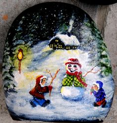 handpainted rocks, gnomes, Christmas decor, holiday decor