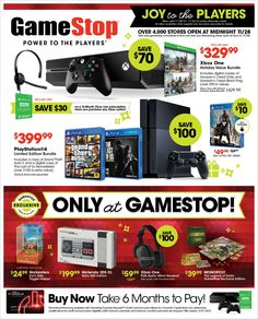 Black Friday Deals 2014  from GameStop  Hello Gamers are you looking for the best games and gaming systems This Holiday Season?  Then look no further Just  Your Game has the best games like Call to Duty, Destiny and The Last of Us. Plus we have the top gaming systems from XBox to Wii everything for the you the gamer. Our online partner GameStop.  by downloading our FREE Holiday Sales Guide. http://tomatovisiontv.wix.com/tomatovision2#!video-games/c1zzn