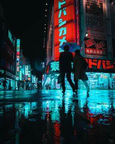 vaporwave city Cyberpunk Cities: Photos by Teemu Jarvinen Inspiration Grid Cyberpunk City, Ville Cyberpunk, Cyberpunk Kunst, Cyberpunk Aesthetic, Neon Aesthetic, Aesthetic Themes, Vaporwave, Urban Photography, Street Photography