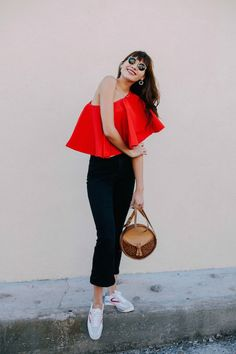 Blogger Style: Party up Top, Casual on Bottom