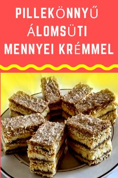 Mennyei krémmel #süti #krém Hungarian Desserts, Hungarian Recipes, Walnut Torte Recipe, Cake Recipes, Dessert Recipes, Good Food, Yummy Food, Winter Food, Cake Cookies