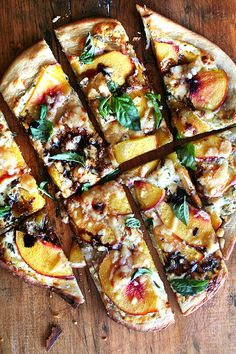 nectarine pizza with basil and balsamic...