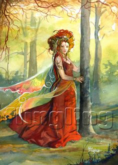 SciFi and Fantasy Art Lady of the woods by Kajsa Flingling Flinkfeldt Illustration Story, Illustrations, Wicca, Dragons, Fantasy Paintings, Beautiful Fairies, Science Fiction Art, Fairy Art, Magical Creatures