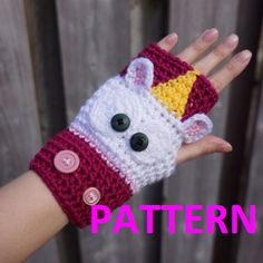 PATTERN ONLY Crochet Unicorn fingerless gloves by HookersPalace