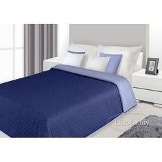 Prehoz na posteľ tmavomodrej farby s prešívaným vzorom Mattress, Bedroom, Furniture, Home Decor, Decoration Home, Room Decor, Mattresses, Bedrooms, Home Furnishings