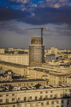 Prudential skyscraper of early 1930's, Warsaw, Poland