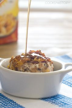 Cereal and Bacon Fried Ice Cream Balls - It's like having breakfast for dessert! Get the recipe on COOKtheSTORY.com