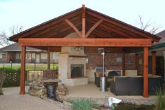 backyard decks and patios pictures | Pavilion, Outdoor Fireplace and Outdoor Kitchen