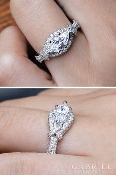 Explore thousands of engagement ring styles from Gabriel & Co. to find the perfect piece of jewelry that locks in love forever. Engagement Ring On Hand, Engagement Ring Shapes, Silver Engagement Rings, Wedding Rings, Wedding Shit, Halo Engagement, Dream Wedding, Best Engagement Ring Designers, Sapphire Diamond Engagement