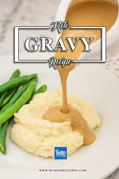 The Ultimate Keto Beef Gravy – Simple Low Carb Recipe. This easy sauce recipe is perfect for serving with your turkey this thanksgiving. It's healthy, gluten free and thickened with xanthan gum. Serve with roast chicken, beef or pork for dinner. Low Carb Chicken Recipes, Healthy Low Carb Recipes, Low Carb Dinner Recipes, Keto Foods, Keto Recipes, Lunch Recipes, Healthy Options, Cooker Recipes, Beef Gravy Recipe