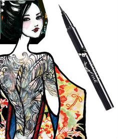 Geisha Ink | Amaterasu Liquid Eyeliner - The Mod Squad, Style Nine to Five. If you haven't yet, try Geisha Ink – it won't budge, has intense pigment, and will without a doubt give you the flawless 60s feel.