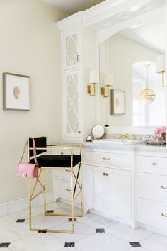 A Look Back At My Master Bath... - Pink Peonies by Rach Parcell