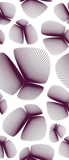 Palms - Plum, wallpaper by Lars Contzen: