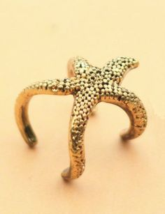Fancy Carve Pattern Ring with Starfish Design For Women
