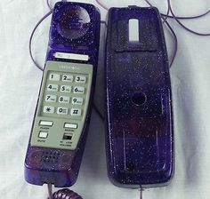 Limited Too Purple Glitter Corded Phone Telephone Girls Teen Room | eBay