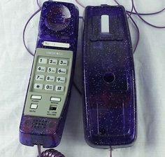 Limited Too Purple Glitter Corded Phone Telephone Girls Teen Room | eBay