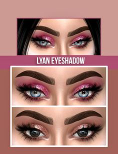 LYAN EYESHADOW• 9 swatches • Found in eyeshadow • Works with Hq (Pictures took with Hq mod) • Hope you like it ! • Tag me if you use it ! • eyeliner by @pralinesims • Inspired by this picture...