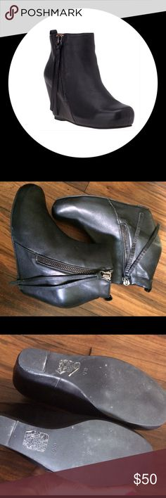 21f84f64b2280c Jeffrey campbell black leather wedge booties These are fantastic boots that  I just don t wear enough! Buttery soft black leather