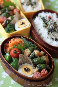 Kitsune Bento - i want my lunch to look like this Japanese Lunch Box, Japanese Food, Sushi, Asian Recipes, Healthy Recipes, Boite A Lunch, Little Lunch, Bento Box Lunch, Bento Food